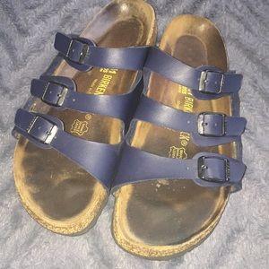Navy Birkenstock sandals 41 ladies 10 men 8